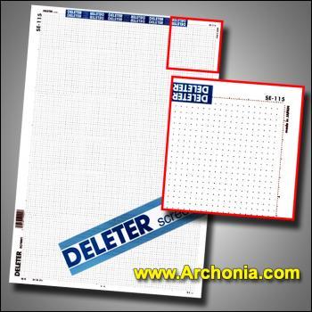 Deleter screen SE-115