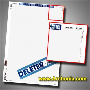 Deleter screen SE-100