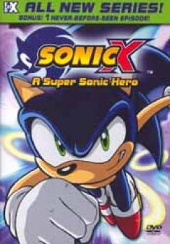 Sonic X vol 01 A super sonic hero DVD